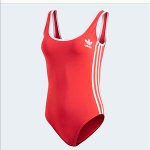 Red Adidas Bodysuit